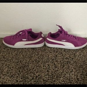Purple Puma Shoes Big Girl Size 5